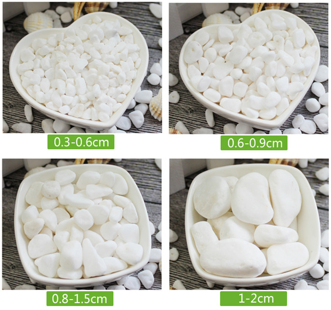 500g White Garden Paving Pebbles/Plants Growing Decorative PEBBLES/Gardening Media