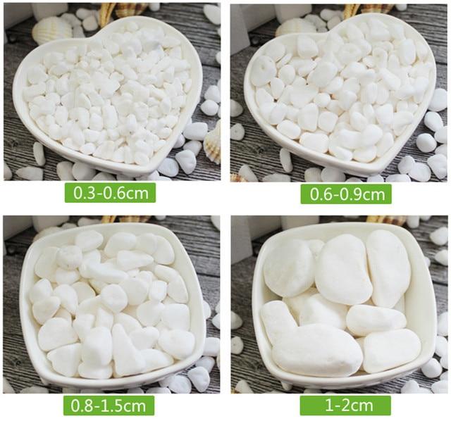 500g White Garden Paving Pebbles/Plants Growing Decorative PEBBLES/Gardening  Media