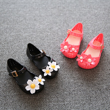New Children S Mini Flower Small Bow Sandals Girls Jelly Shoes Soft Children Princess Shoes for