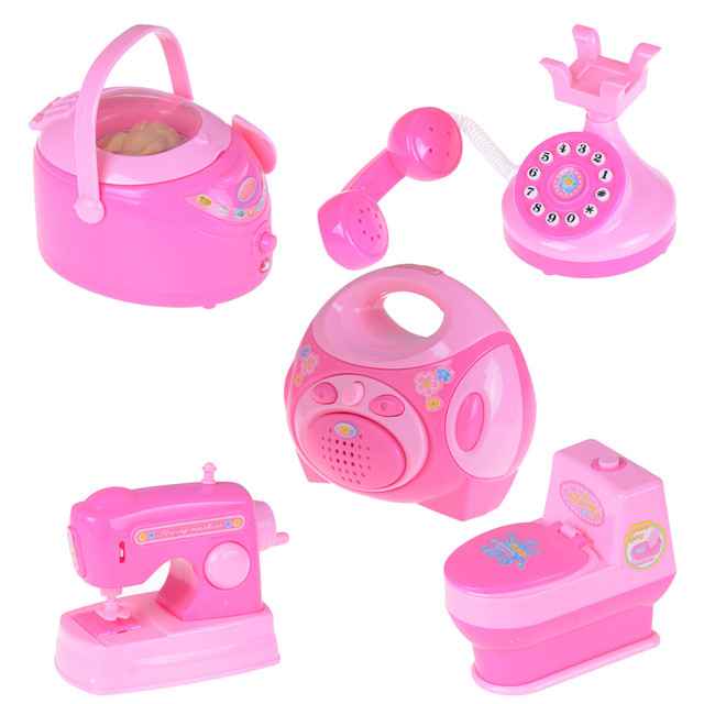Mini Simulation Home Appliances Kids Children Play House Toy Baby Girls Pretend  Play Toys Kitchen Toys