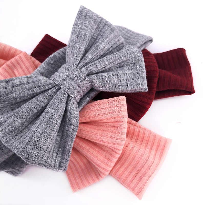 GZHILOVINGL nouveau-né bébé filles noeud noeud bandeaux 2019 filles enfants enfant en bas âge doux coton côtelé Turban tête Wrap cadeaux d'anniversaire