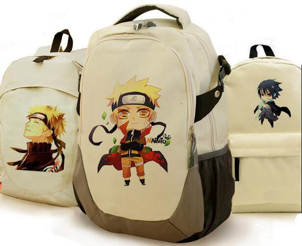 Naruto Print Canvas Backpacks