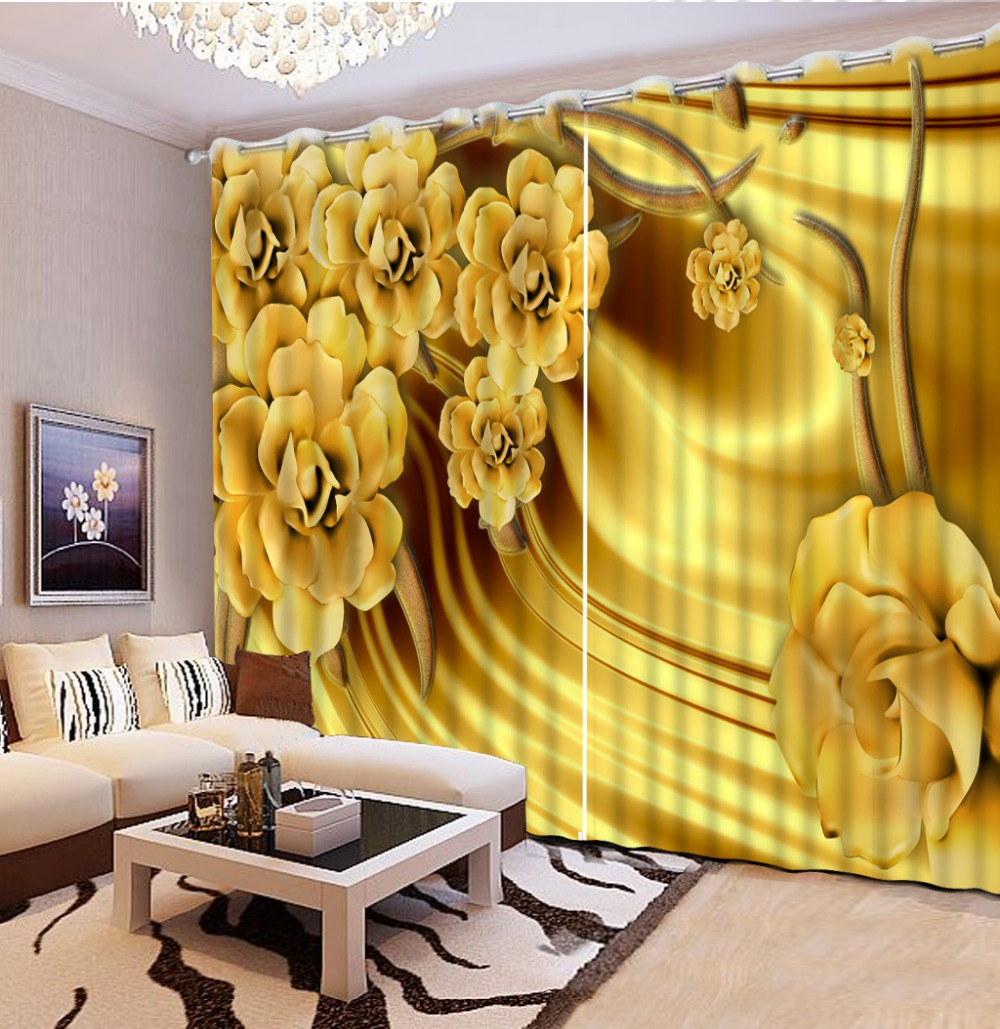Modern style 3D branches circle Window Curtain Blackout Curtain For Living Room 3D Curtains High-precision Shade CL-DLM804