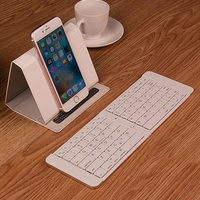 Foldable Metal Bluetooth Keyboard General For Android IPad Tablet Mobile Phone Portable Mini External Wireless Keyboard