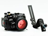 For Sony A6000 (16 50mm) 40m/130ft Meikon Underwater Camera Housing + diving handle + 67mm Red diving filter