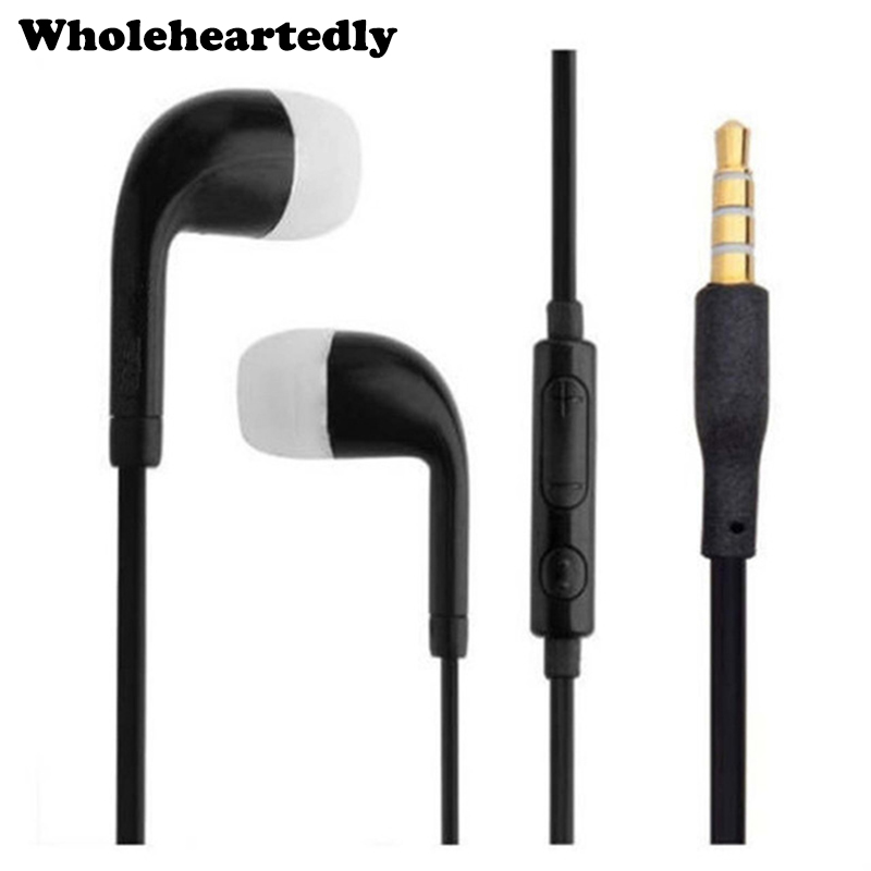 Vadonatúj színes 3,5 mm-es sztereó fülhallgató fülhallgató Earbud szilikon fülhallgatók MIC mikrofonnal a mobil okos telefon dropship-hez