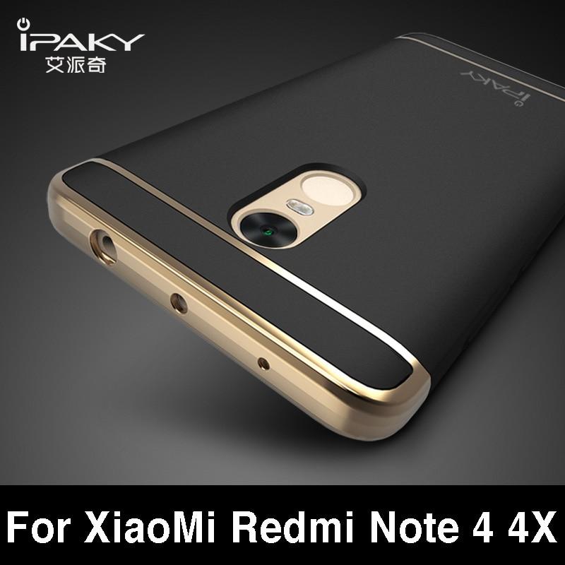 imágenes para Xiaomi Redmi Nota 4 Caso iPaky marca xiaomi redmi nota caja de 4x moda Plating Contraportada Para xiaomi redmi nota 4 cubierta de 4x