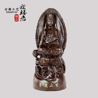 Ebony wood carving handicraft wooden red points Guanyin Buddha boutique Wenwan Home Furnishing wooden jewelry ornaments
