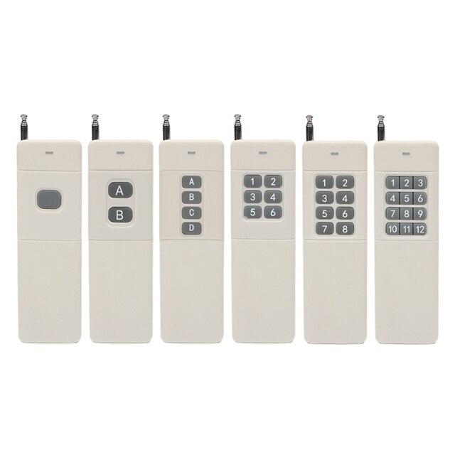 OOTDTY transmisor de Control remoto RF, 1/2/4/6/8/12CH, 433 MHz, 3000m, mando a distancia de largo alcance