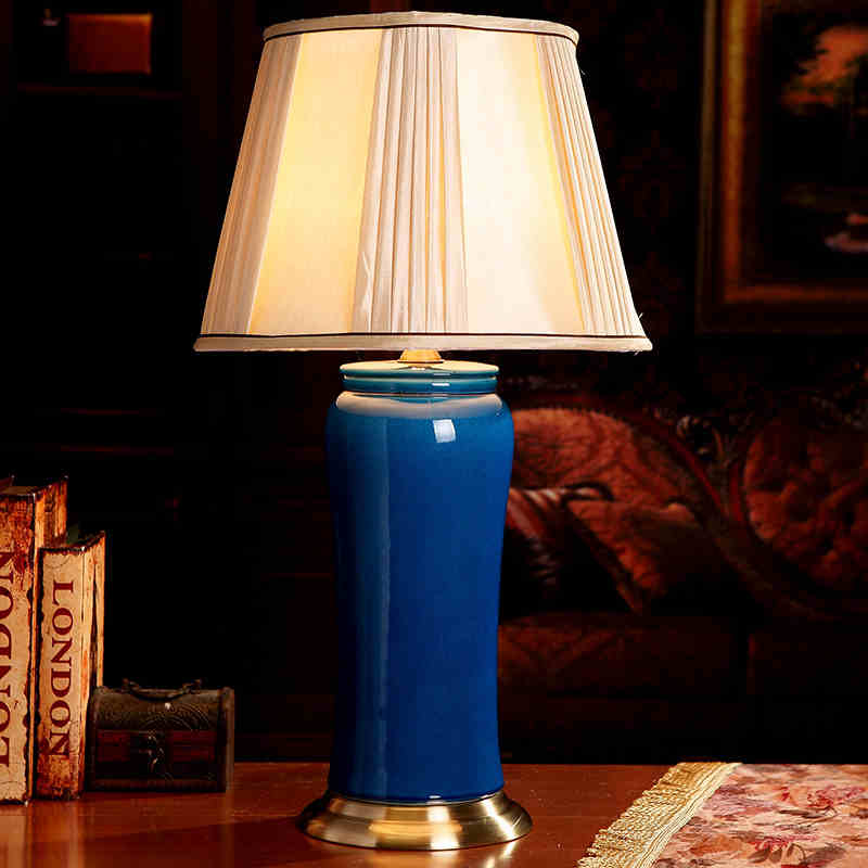 Blue Living Room Lamps: Blue Color China Antique Living Room Vintage Table Lamp