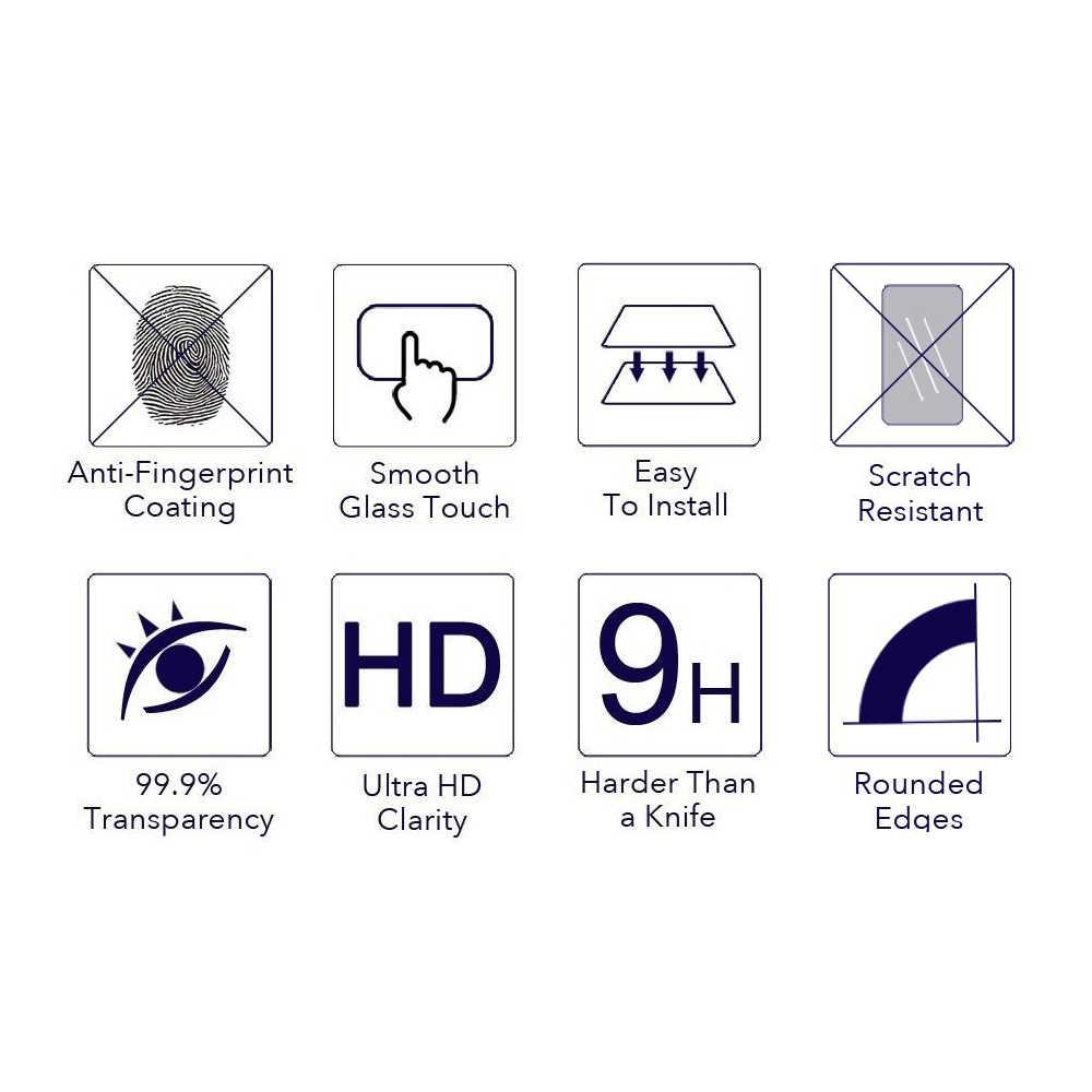 9H 2.5D מזג זכוכית מסך מגן מגן סרט לסמסונג גלקסי S3 S4 S5 S6 S7 A3 A5 A7 a8 J1 J5 J7 הערה 2 3 4 5 E7