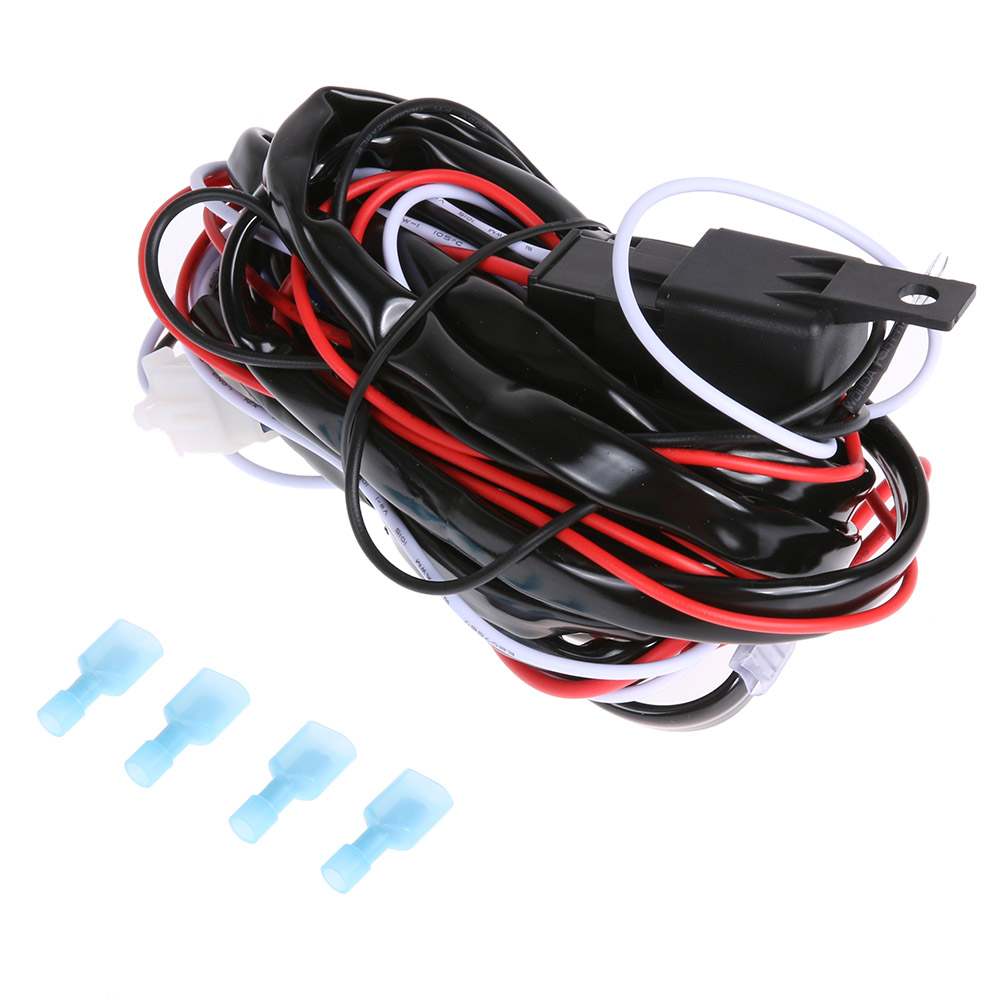 12v 40a Car Led Work Light Wiring Harness Relay Kit On Off Universal Wire Switch For Hid Fog