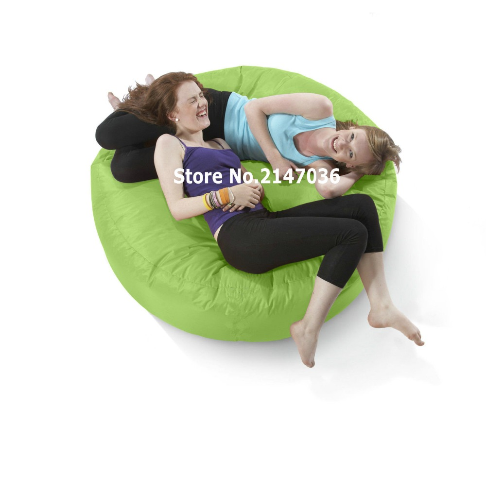 Green big hug huddle eco friendly indoor / outdoor round bean bag, many colors