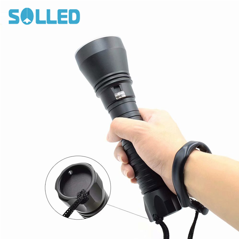 SOLLED Flashlight 4000-8000 Lumens XHP70 LED Torch Adjustable Zoom Focus Torch Lamp Penlight Waterproof For Outdoor 2017 new 5 colors mini flashlight 2000 lumens cree q5 led torch aa 14500 adjustable zoom focus torch lamp penlight