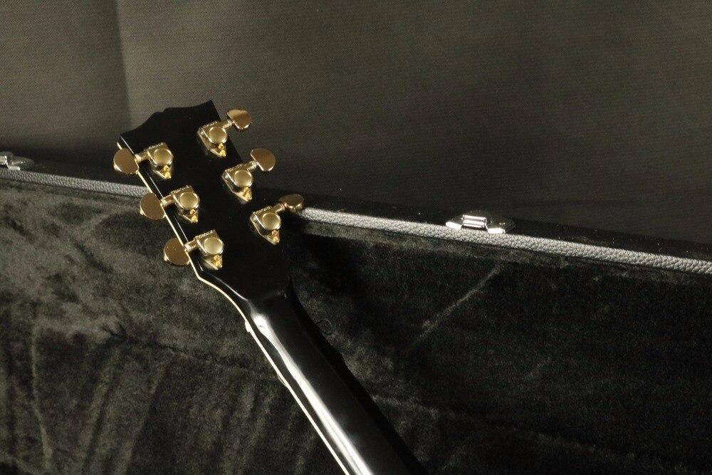 Top qualité E-J200A 43''Jumbo guitare acoustique électrique Fishman EQ acajou cou Grover accordeur couleur noire - 5