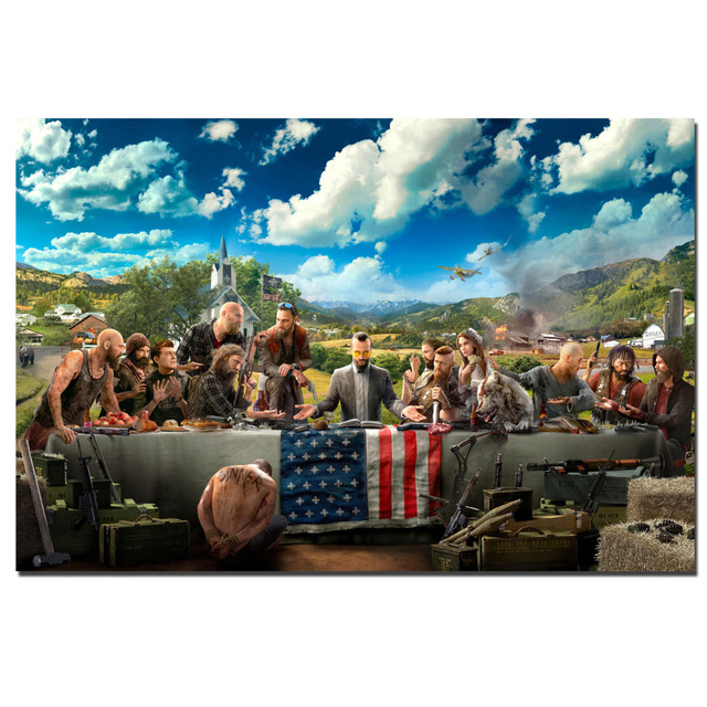Aliexpresscom Buy Far Cry 5 The Last Supper Game Poster Canvas