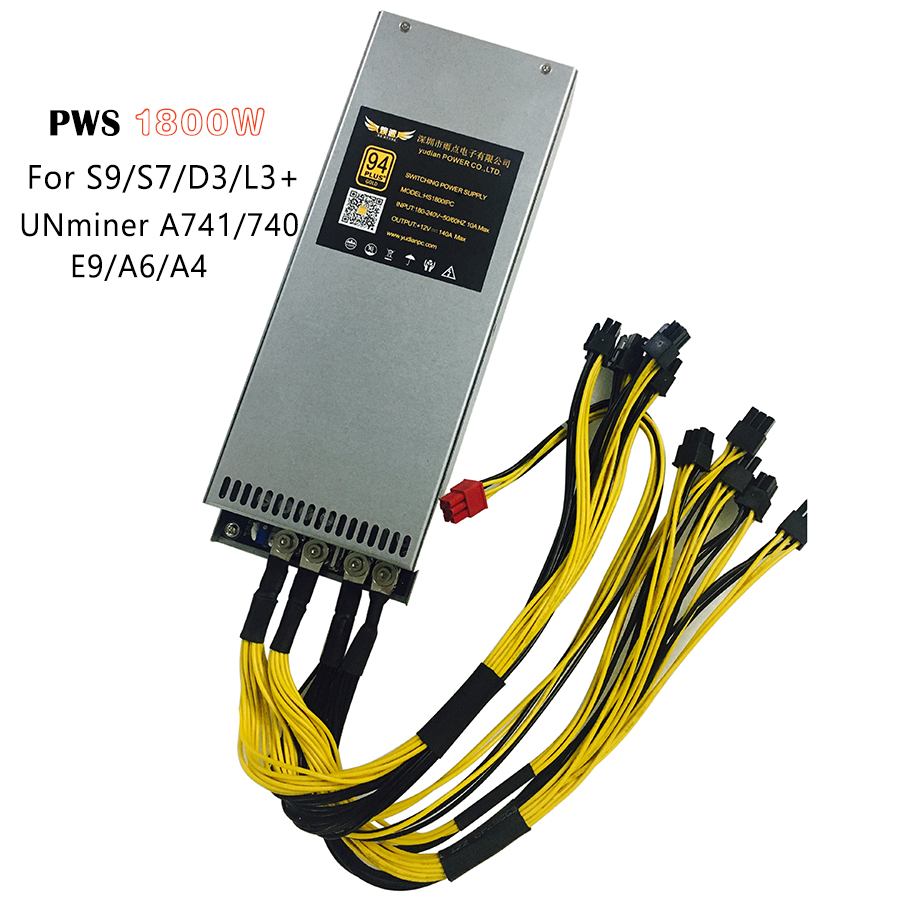 1800W PWS Antminer Power Supply 1800W PC Power Supply For Antminer S9 S7 L3 D3 T9