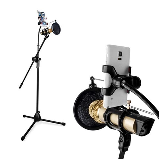 Микрофон Микрофон Подвеска Стрелы Ножничный Рычаг Стенд Держатель Для Ipad Mini Телефон для Студии Вещания Микрофон