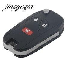 Jingyuqin 10 шт./лот изменение 3btn Флип складной Оболочки чехол для Nissan Cube Juke разбойник 2 + 1 Panic