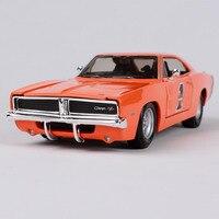 Maisto 1:25 Dodge Challenger RT refitted harley car diecast 210*75*53 motorcar diecast collecting orange car model men 32196