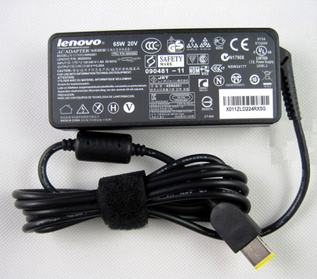 ФОТО NEW Official Lenovo 65W AC Power Adapter for IdeaPad Yoga 13 Charger EU&US Plug Available