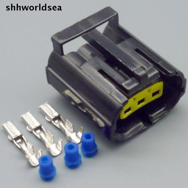 shhworldsea 5/30/100sets kit 1.8mm 3p 3way auto waterproof wire harness connector 344273-3
