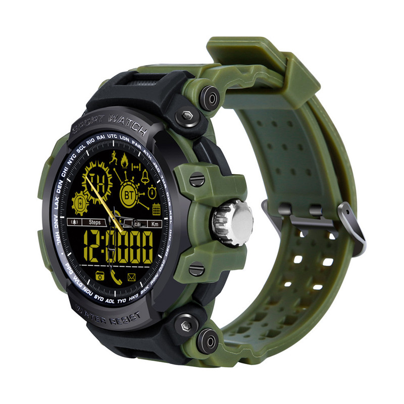 New Sports Smart Watch Bluetooth Waterproof Remote Camera Running Equipment for Android and IOS Smartphone in Black and Green