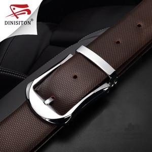 Image 4 - DINISITON Hohe Qualität Erste Schicht Gürtel Kuh Echtes Leder Gürtel Für Männer Business Pin Schnalle Designer Strap Männlich Cinto PX217