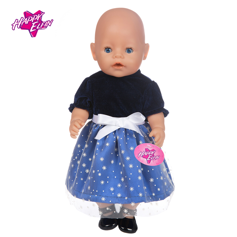 2 Colors Doll Clothes Fit 43cm Zapf Baby Born Doll 18 inch Dolls American Girl doll Wedding dress clothes Groom Children Gifts