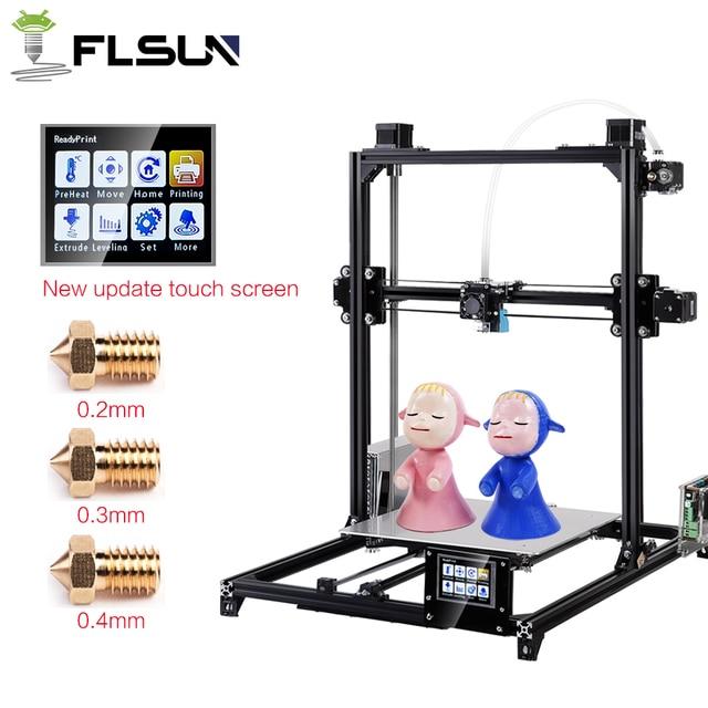 Flsun 3D Printer  I3 Dual Extruder Kits Auto-leveling  Large Size 300x300x420mm  Printer 3D Heated Bed Two Rolls Filament