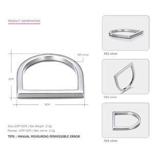 Image 4 - 100% 925 כסף סטרלינג טבעות לנשים Minimalis משרד פשוט עיצוב טבעת תכשיטים טרנדי אביזרי Anillos Mujer