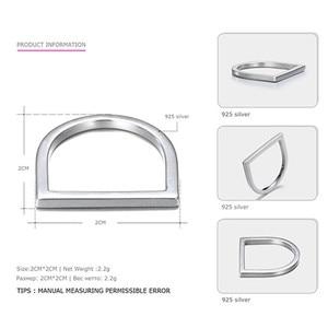 Image 4 - 100% 925 スターリングシルバーリング女性用 minimalis オフィスシンプルなデザインリングトレンディファインジュエリーアクセサリー anillos mujer