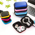 Mini Zipper Earphone Storage Case Earbuds Carrying Hard Bag Box Case For Keys Coin Travel Earphone Accessories