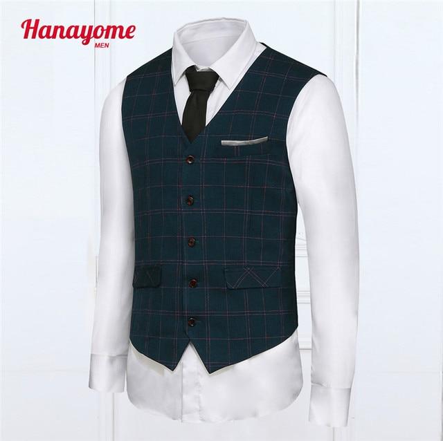 Fashion Men Vest Pinstriped High Quality Mens Casual Suit V-necked Slim Fit Vests Plus size XXL Patchwork Design Brown