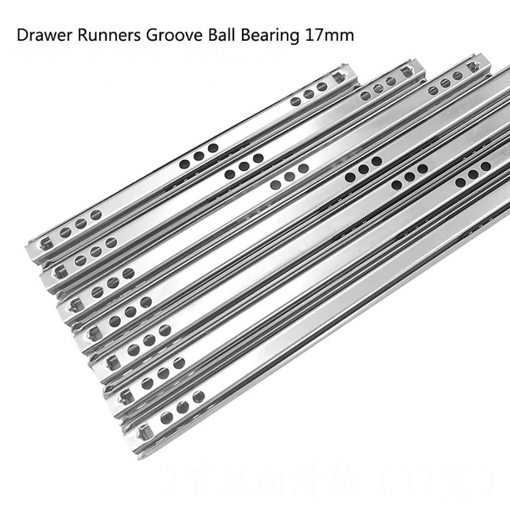 2X Heavy Runners Ball Bearing Drawer Slides Rail Telescopic Metal Duty 8-16inch