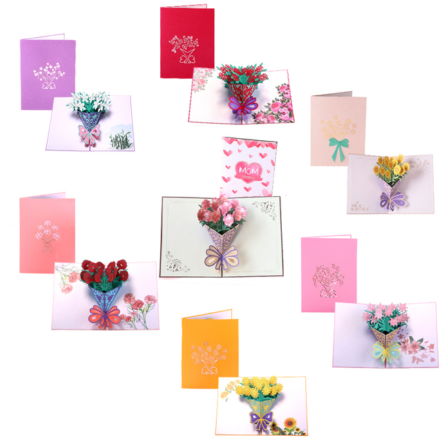 thank you thanksgiving 3d pop up greeting post cards for birthday