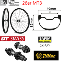26er горные эндуро углеродное колесо горного велосипеда колесо для горного велосипеда 40 мм более широкий обод с DT350 втулка для горного велоси