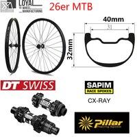 26er Downhill Enduro Carbon Mountain bike wheel MTB wheel 40mm Wider Rim with DT350 MTB hub for Cycling