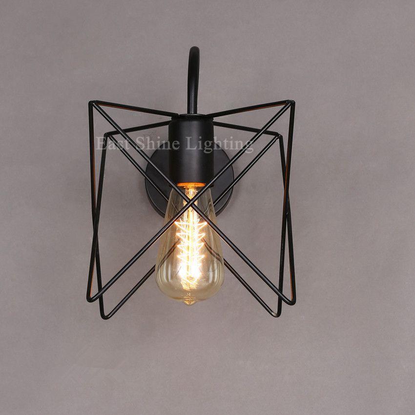 Vintage Fer Cage Mur Lampe Rétro Loft Couloir Escaliers Lampe ...