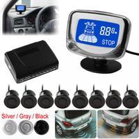 Auto Auto Parktronic FÜHRTE Parken-sensor Mit 8 Sensoren Rückunterstützungs Parkplatz Radar-Monitor Metalldetektor-system Hintergrundbeleuchtung Display