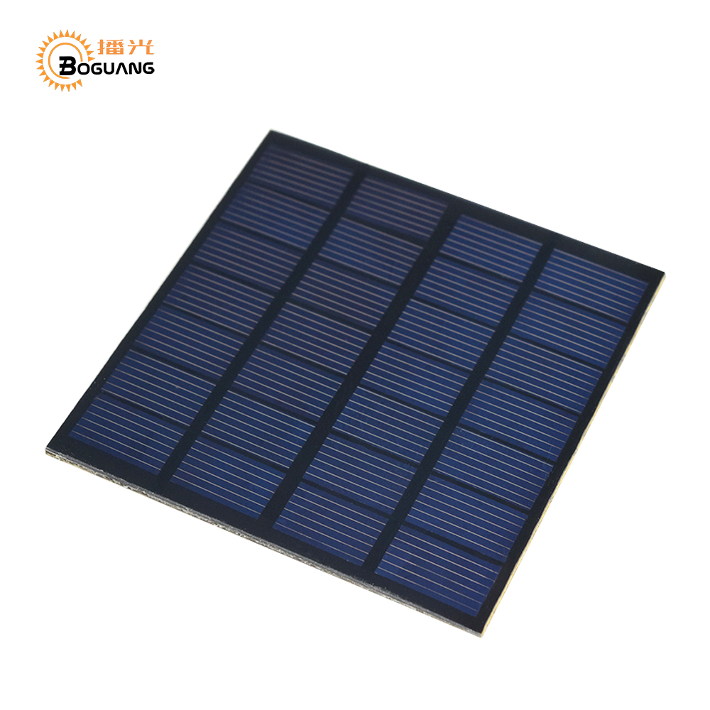 BOGUANG 10PCS Mini solar panel PET 7V 250ma Solar power for toys lights educational DIY kits motor pump china factory 110*110mm