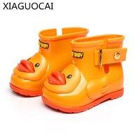 2017 New Arrivals Boys Girls Baby Waterproof Duck Rain Boots Lovely Non Slip Fashion Children Soft