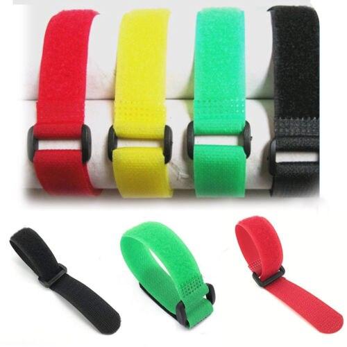 10 Pz 12 Pollici Riutilizzabile Variopinta Cinturino In Nylon Hook E Loop Cavo Cavo Cravatte Tidy Organizzare Calcolo Attento E Bilancio Rigoroso