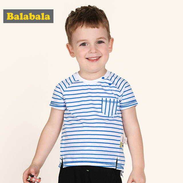 0370d285623 Balabala Boys Tops for Summer 2018 Brand Children Tshirts Boys Clothing  Kids Tee Shirt 100% Cotton printed little Boys Clothes
