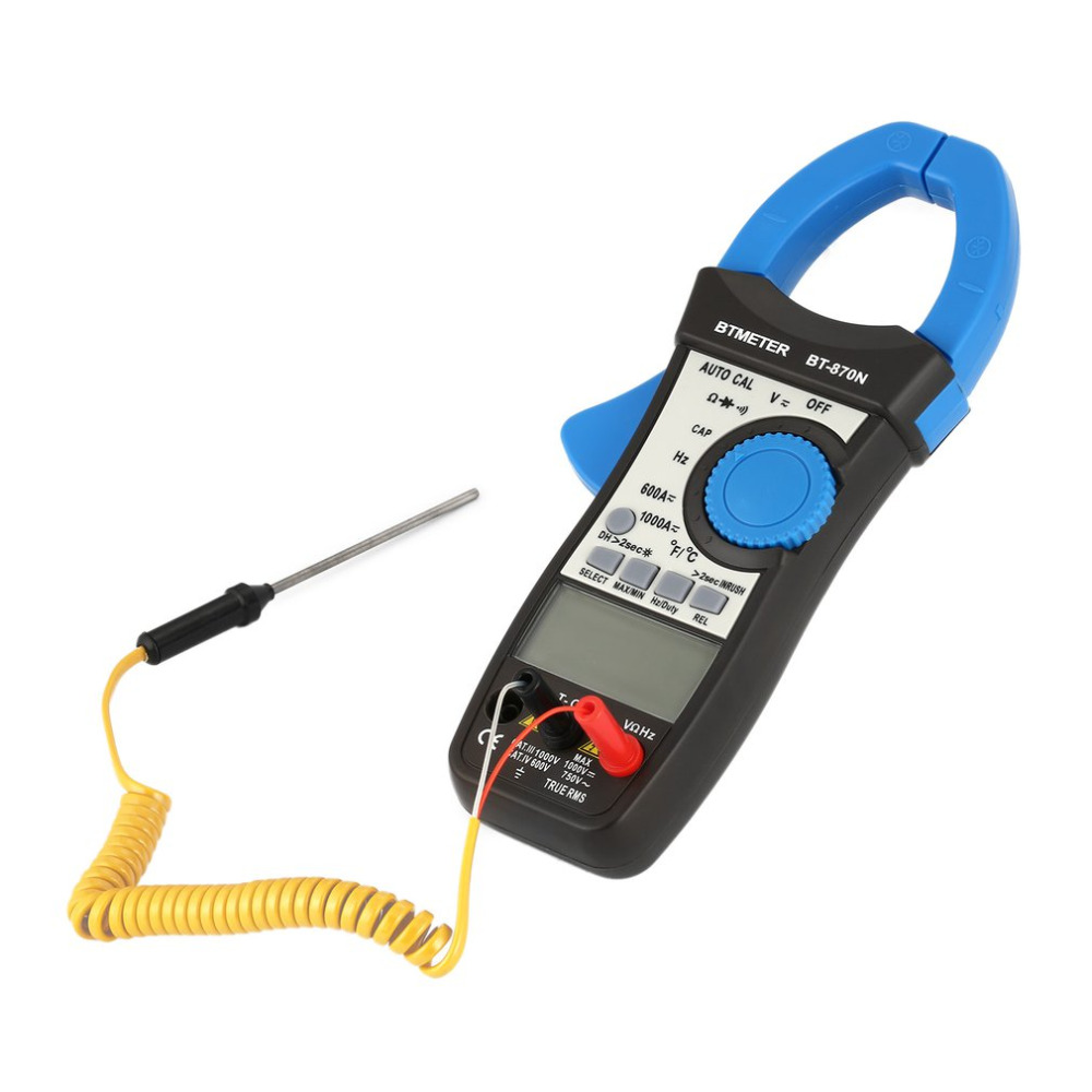 Digitale Clamp Multimeter AC/DC BT-870N Auto Cal Strom Clamp Meter Induktion Spannung Kapazität Frequenz Tester