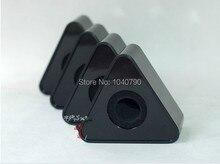 ABS material triángulo marcar entrevista Micrófono micrófonos micrófono etiqueta caja Triangular triángulo negro Logotipo de la Estación