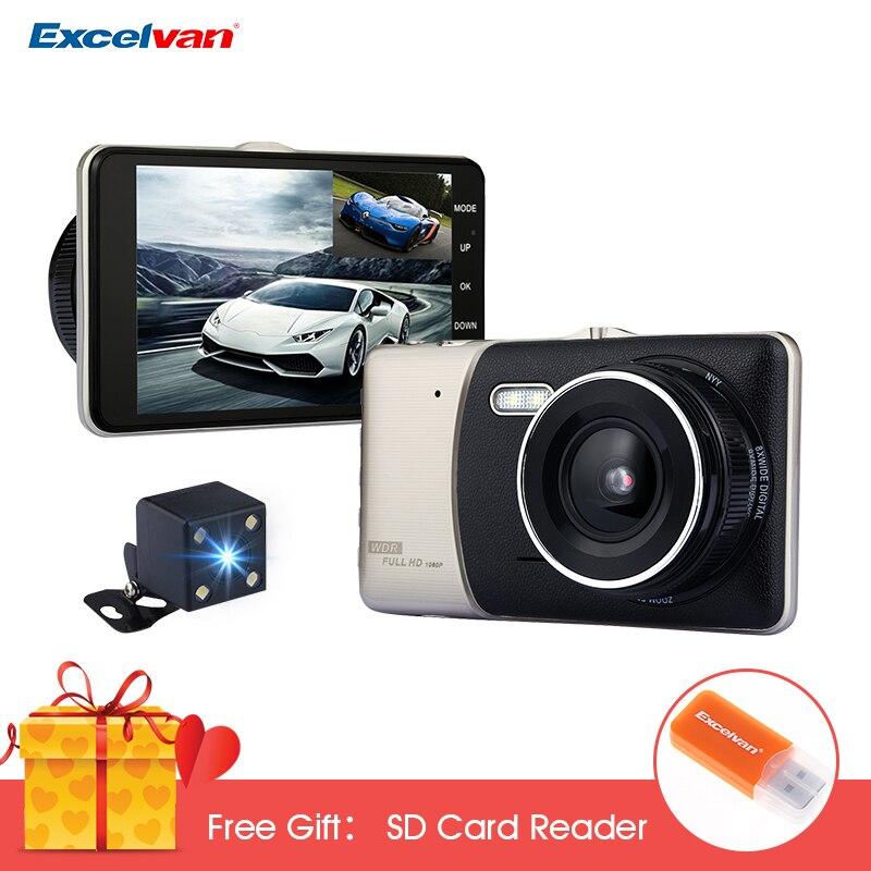 X5 Car DVR Dash Camera 4.0 Inch IPS Screen Car DVR Novatek NTK96658 Full HD 1080P Video 170 Degree Dash Cam with Rearview Camera