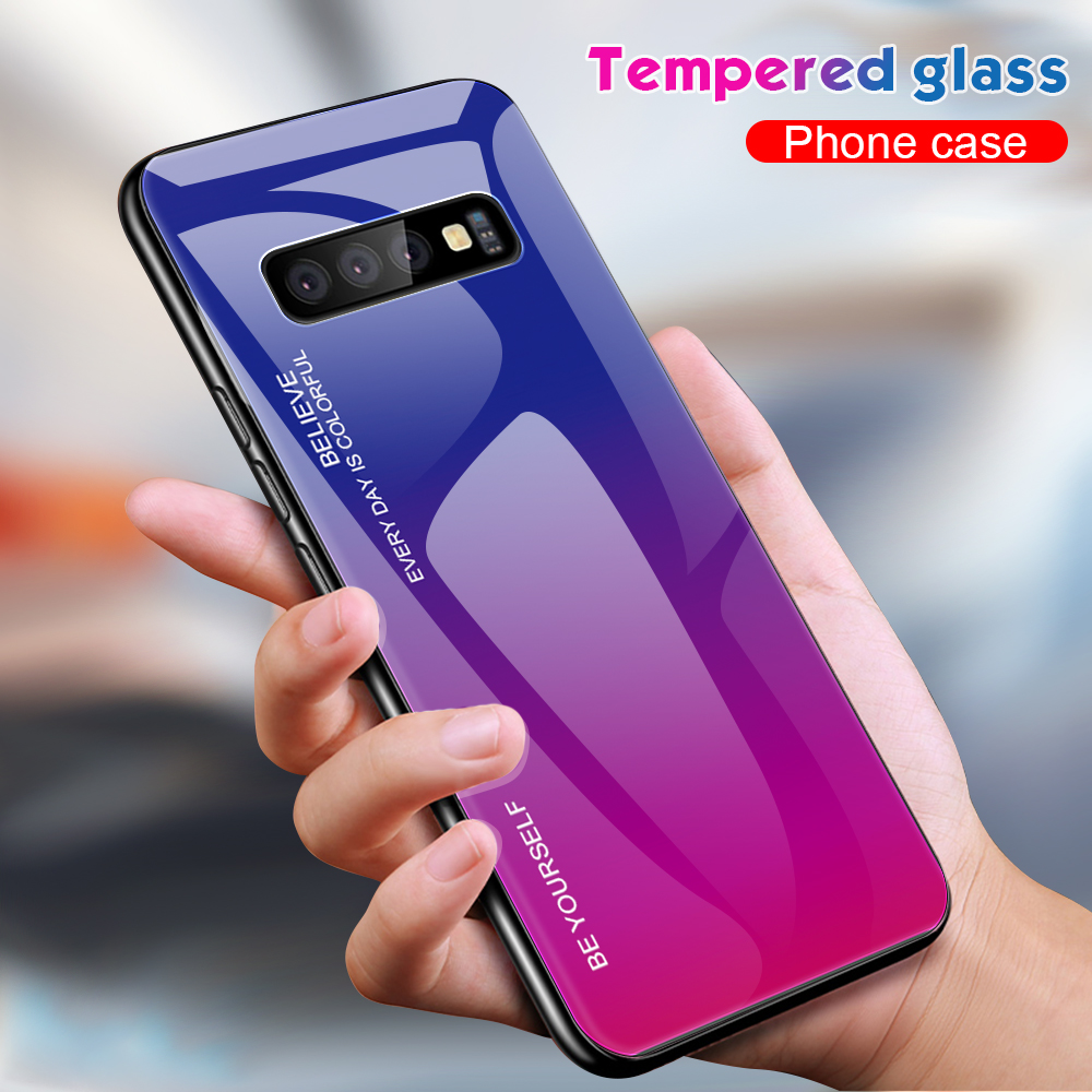 For Samsung Galaxy S10 Plus S10 Lite Case Gradient Tempered Glass Phone Cases For Samsung S10 S9 S8 Plus Note 9 Note 8 Cover     (13)