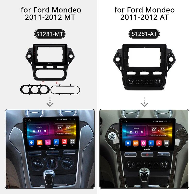 Ownice K1 K2 Android 8.1 32G + 2G lecteur DVD de voiture GPS Navigation Radio 2.5D IPS pour Ford Mondeo 2011-2012 4G SIM DAB + DVR