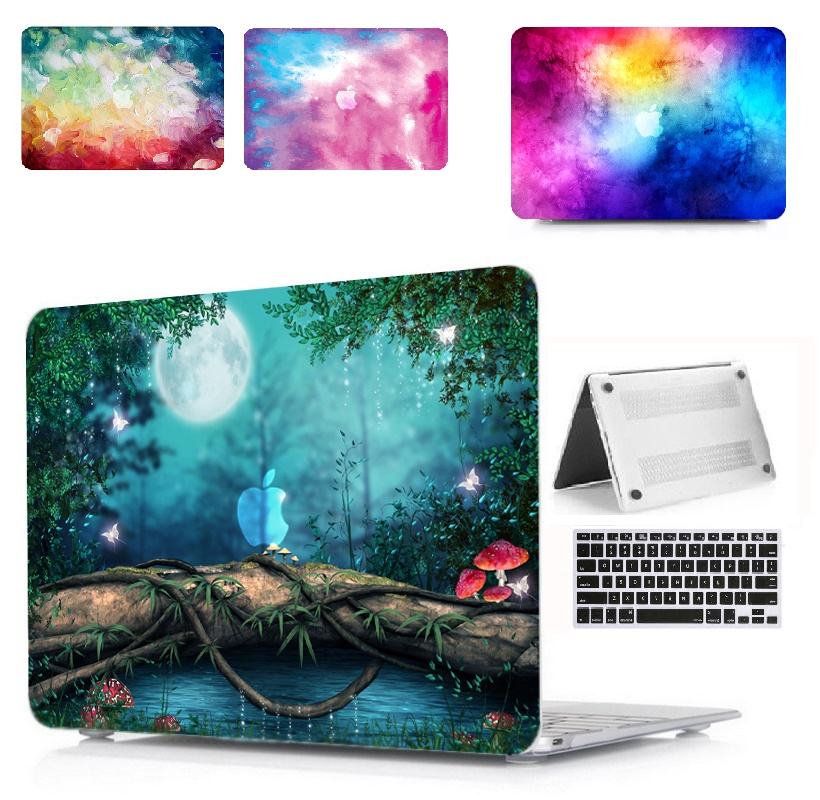Laptop Print Pattern Protective Hard Shell Case Keyboard Cover For Apple Macbook Air Pro Retina Touch Bar amp ID 11 12 13 15 quot in Laptop Bags amp Cases from Computer amp Office
